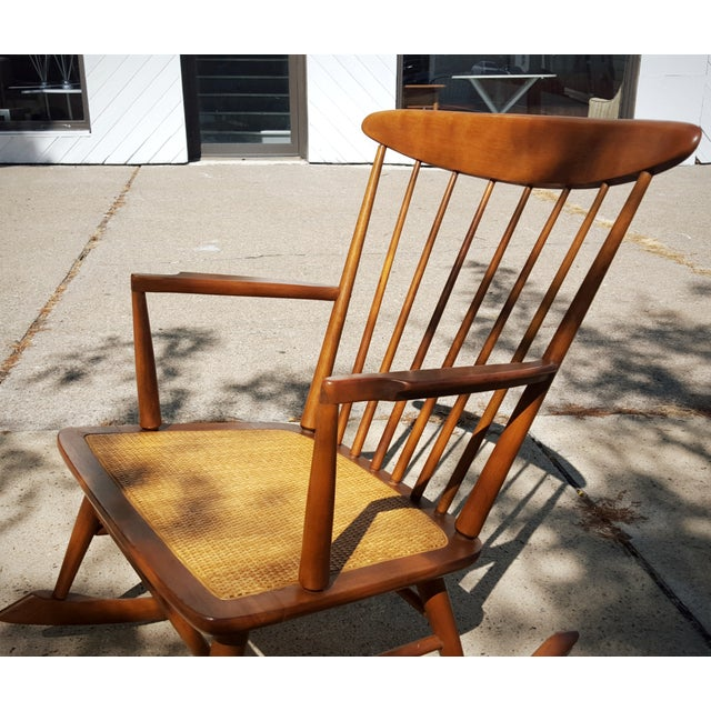Mid-Century Modern Spindle Rocking Chair - Image 7 of 11