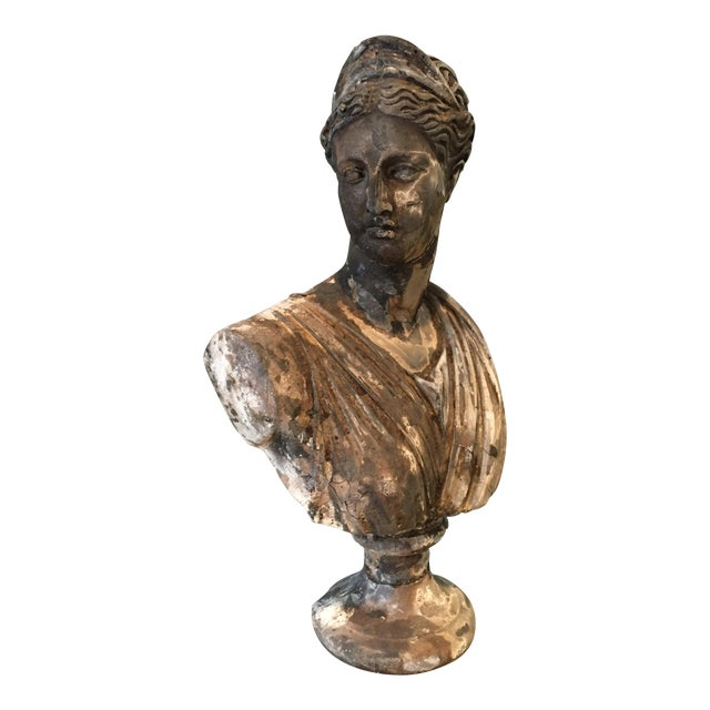 Vintage Classical Concrete Bust - Image 1 of 6