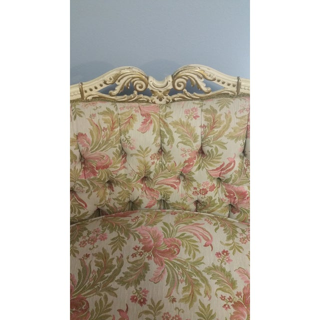 Vintage French Style Tufted Sofa- Corner Available 3 Pcs - Image 9 of 10