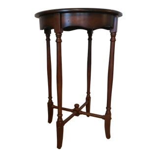 Small Round Accent Table with Spindle Legs