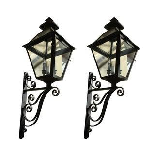 Vintage Copper Lanterns - A Pair