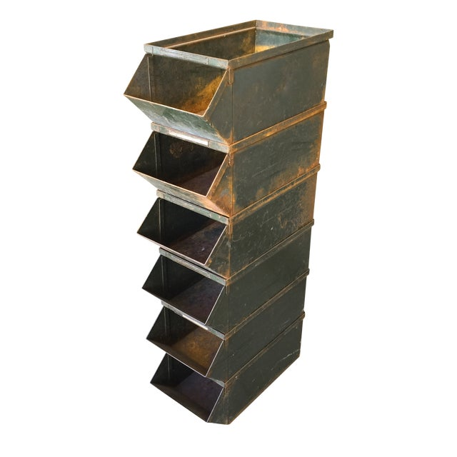Industrial Stacking Containers : Industrial stacking bins set of chairish