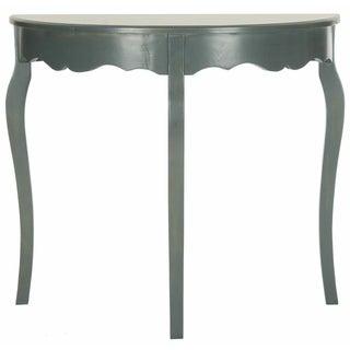 Scalloped Demilune Console Table - Grey