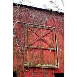 Red Barn Door Photograph