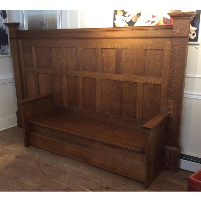 Vintage Sawn Oak Bench - Image 2 of 11