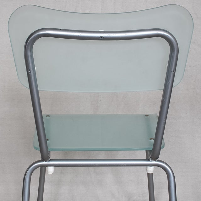 Image of Tim Power for Zeritalia Glass Chip Chairs - A Pair
