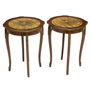 Vintage Egyptian Motif Side Tables - A Pair
