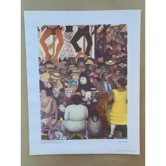 Rare 1946 Diego Rivera Lithograph - Image 2 of 7