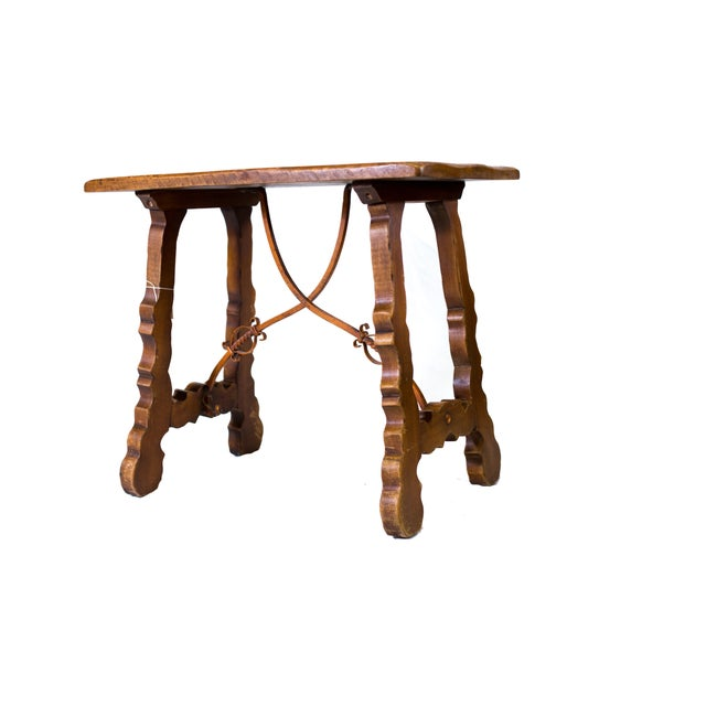 Image of Monterey End Table With Iron Detailing