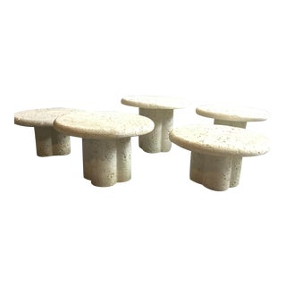 1970s Vintage Reef Stone Tables - Set of 5