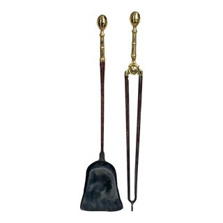 Pair of Federal Lemon-Top Fireplace Tools