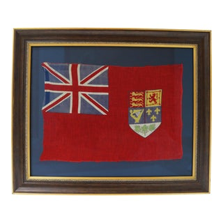 Antique Canadian Red Ensign Flag