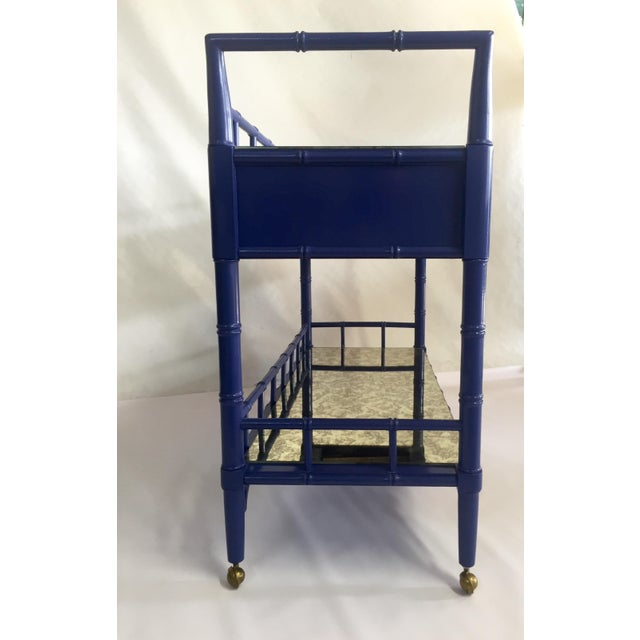 Thomasville Royal Blue Lacquered Server - Image 6 of 11