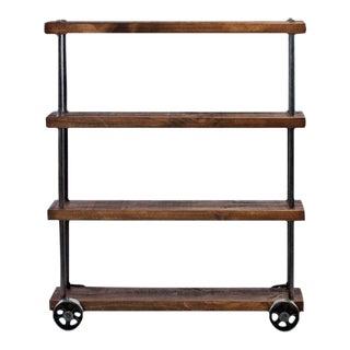 """Dept 87"" Industrial Shelf Cart on Casters"