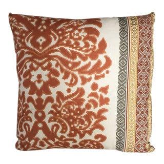 Kim Salmela Orange Embroidered Pillow