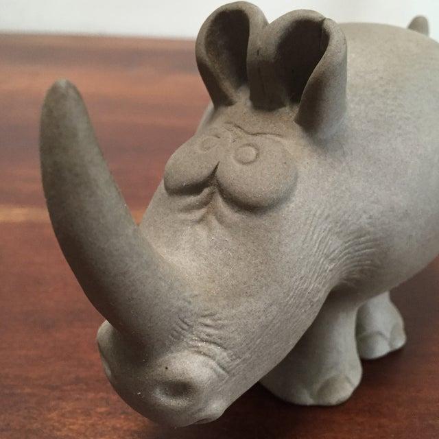 Robert Maxwell Attrib. Ceramic Rhino - Image 7 of 9