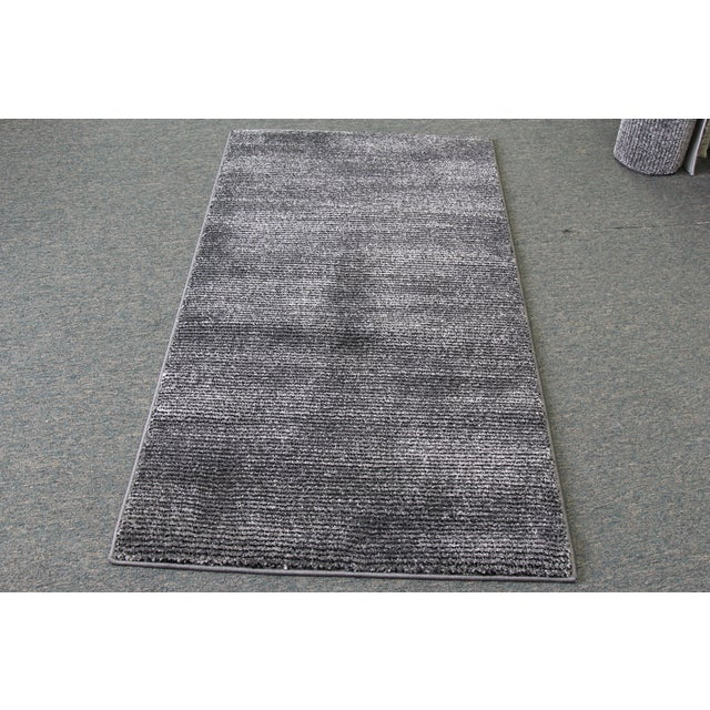 Black & Gray Stripe Rug - 3′ × 5′ - Image 2 of 5