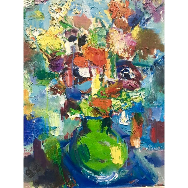 1970 Still Life With Flowers Painting - Image 5 of 5