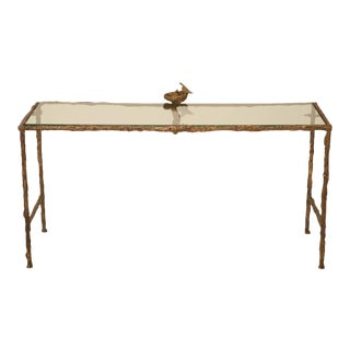 Giacometti Inspired Joel Roux Solid Bronze French Coffee Table