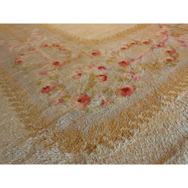 """Antique French Savonnerie style carpet 17' 4"""" x 18' - Image 2 of 4"""