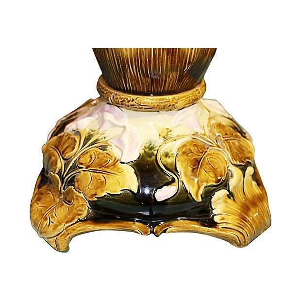 Tall Majolica Table Lamp - Image 5 of 5