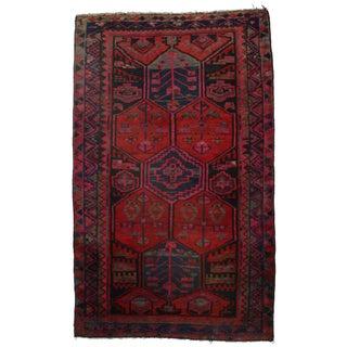Hand-Knotted Wool Persian Hamedan - 4′4″ × 7′2″