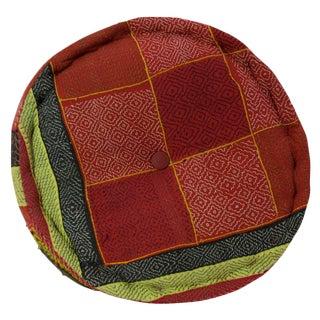 Checkered Mathuravati Pouf