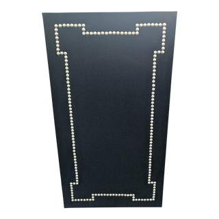 Geometric Nail Head Black Cork Board