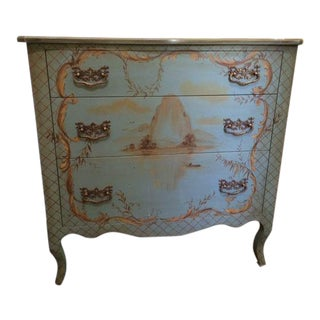 Hand Painted Blue Chinoiserie Dresser