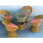 Image of Mid-Century Modern Wicker Dinette Set