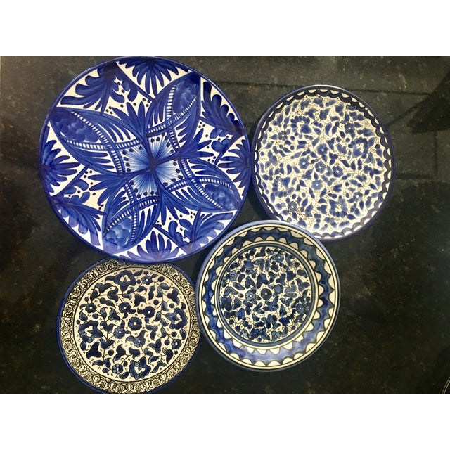 Blue & White Wall Plates - Set of 4 - Image 4 of 6