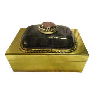 Anthony Redmile Brass Box With Exceptional Decorative Hinged Top