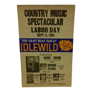 1965 Vintage Country Music Concert Poster