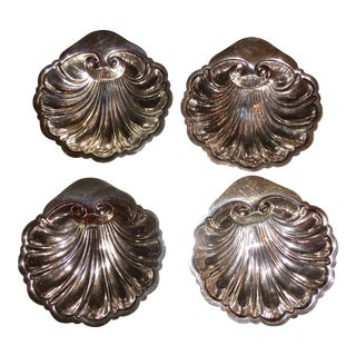 Canterbury Silver Plated Clam Shell Dishes- Set of 4