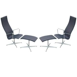 Arne Jacobsen Oxford Lounge & Ottoman for Fritz Hansen, 1963