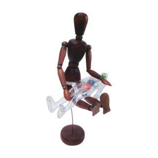 Artist Mannequin Wood & Plastic Anatomical Mannequins - a Pair