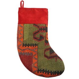 Rug & Relic Cheer Kilim Christmas Stocking