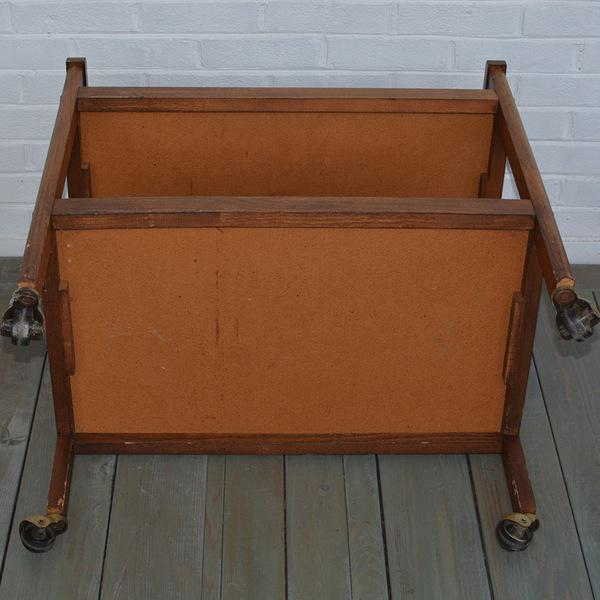 Walnut Two-Tiered Bar Cart - Image 10 of 11