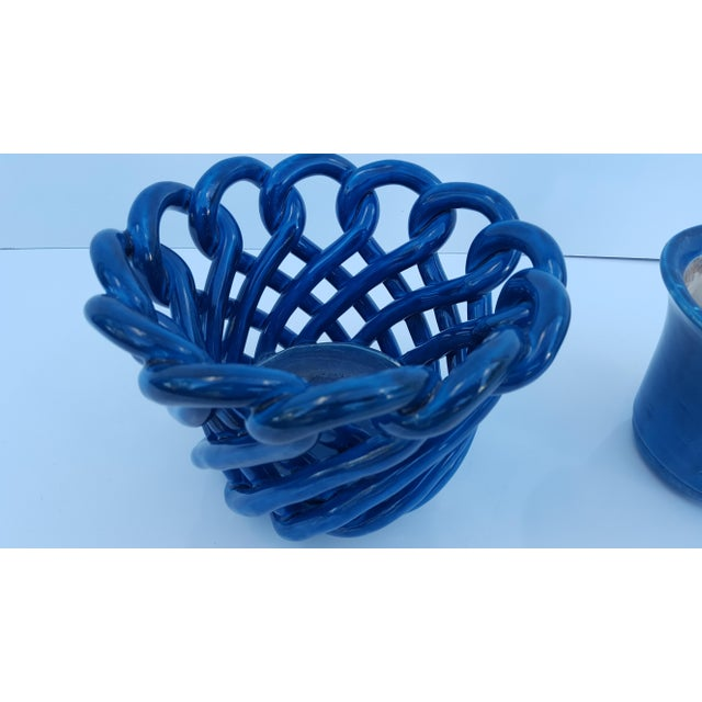 Vintage Blue Turquoise Decorative Planter Pot. - Image 7 of 8