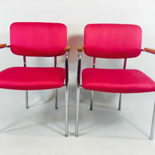 Midcentury Mod Pink Office Chairs A Pair Chairish
