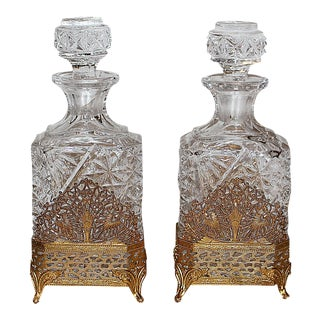 Hollywood Regency Perfume Bottles - A Pair