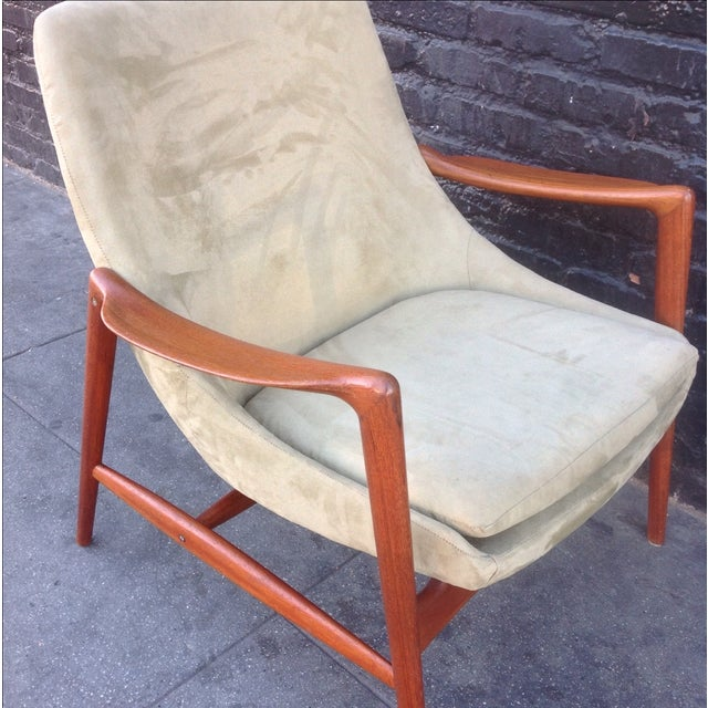 Danish Suede Lounge Chair - Image 6 of 7