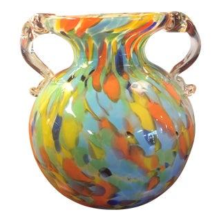 Multicolored Hand Blown Vase