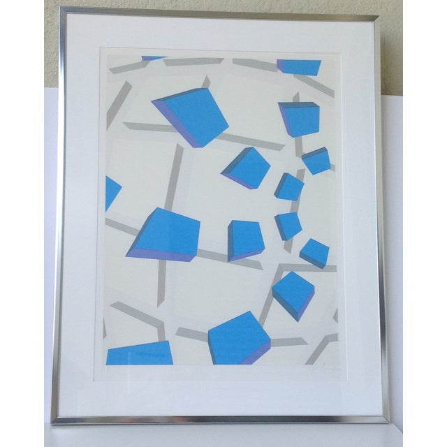 Original Signed Abstract Geometric Lithograph - Image 2 of 11