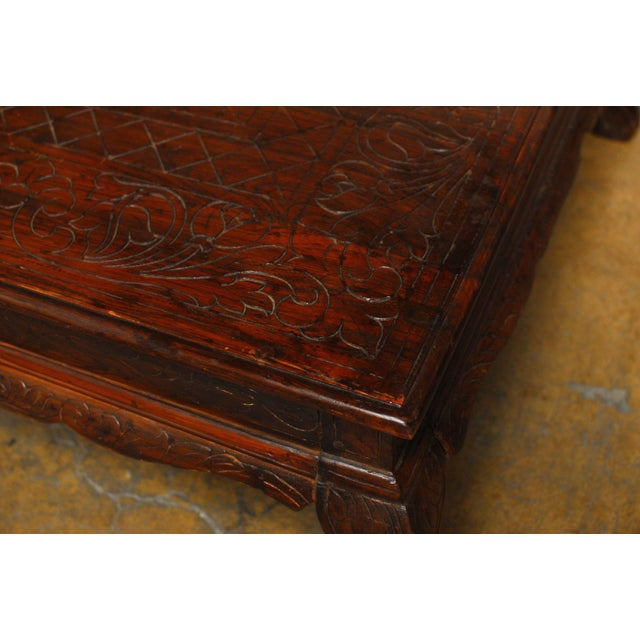 Anglo Indian Carved Low Table - Image 6 of 8