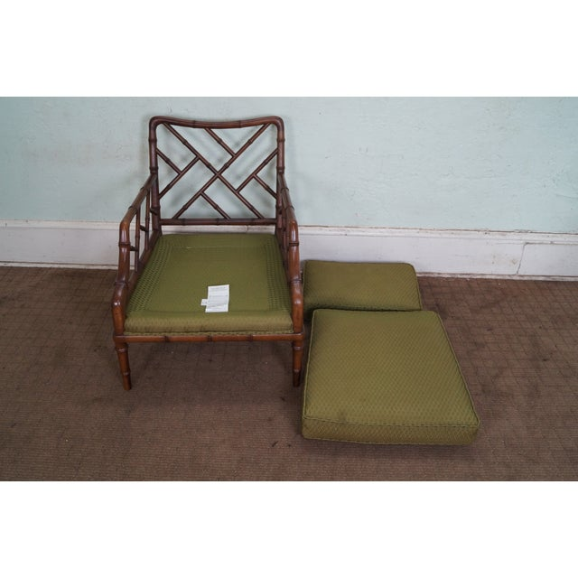 Century Furniture Co. Faux Bamboo Lounge Chair - Image 9 of 10