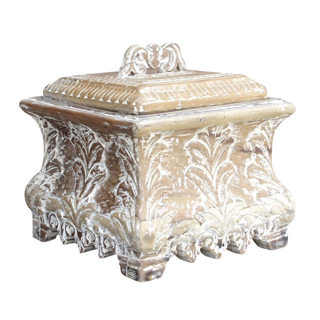 Image of Carved Acanthus Leaf Box