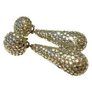 Richard Kerr Silver Crystal Drop Earrings