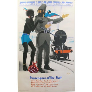 1929 Vintage Railway Poster, Passengers of the Past