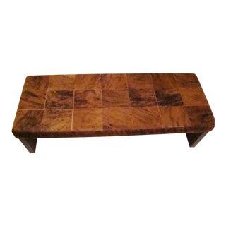 Straccio Natural Cowhide Bench